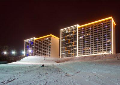 архитектурная контурная подсветка зданий