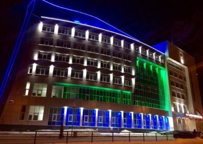 контурная архитектурная подсветка, прожектора