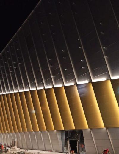 Архитектурная подсветка, заливающий свет
