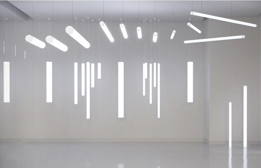 Светодиодные трубки с горизонтальный и вертикальным подвесом DOLO