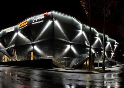 архитектурное освещение акцентным светом