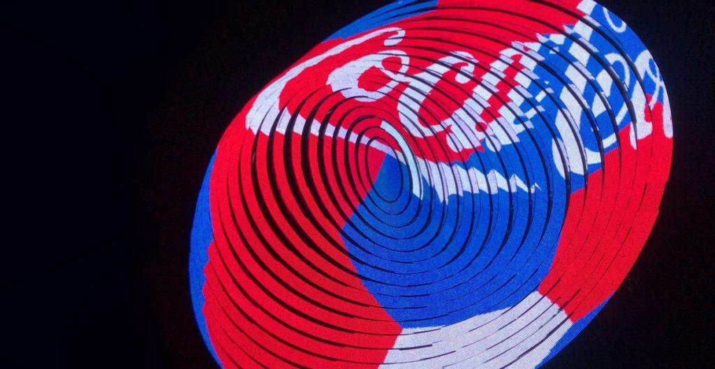 Арт-объект – «Экран Футбола с Coca-Cola»
