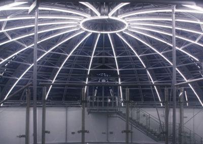 контурная подсветка атриума
