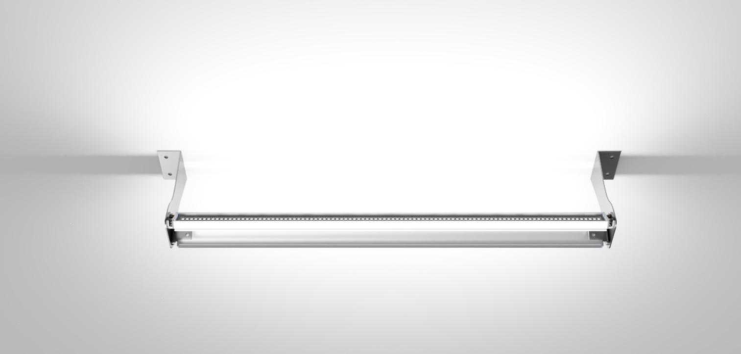 Контурный линейный архитектурный светильник двусторонний