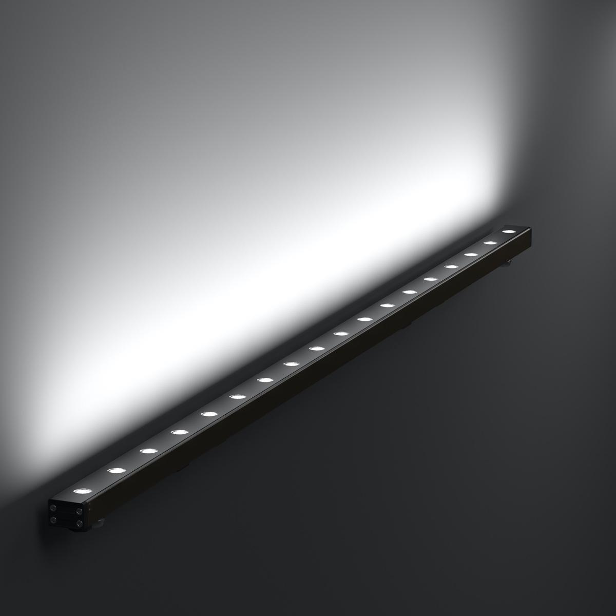 Контурный линейный архитектурный светильник
