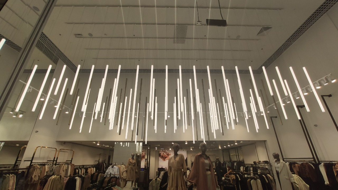 Подвесные светильники-трубки