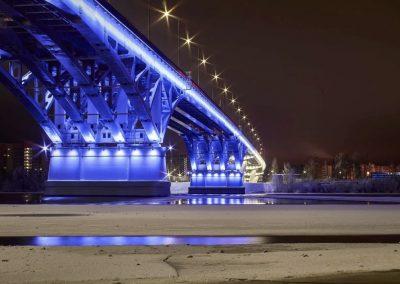 Архитектурная подсветка моста
